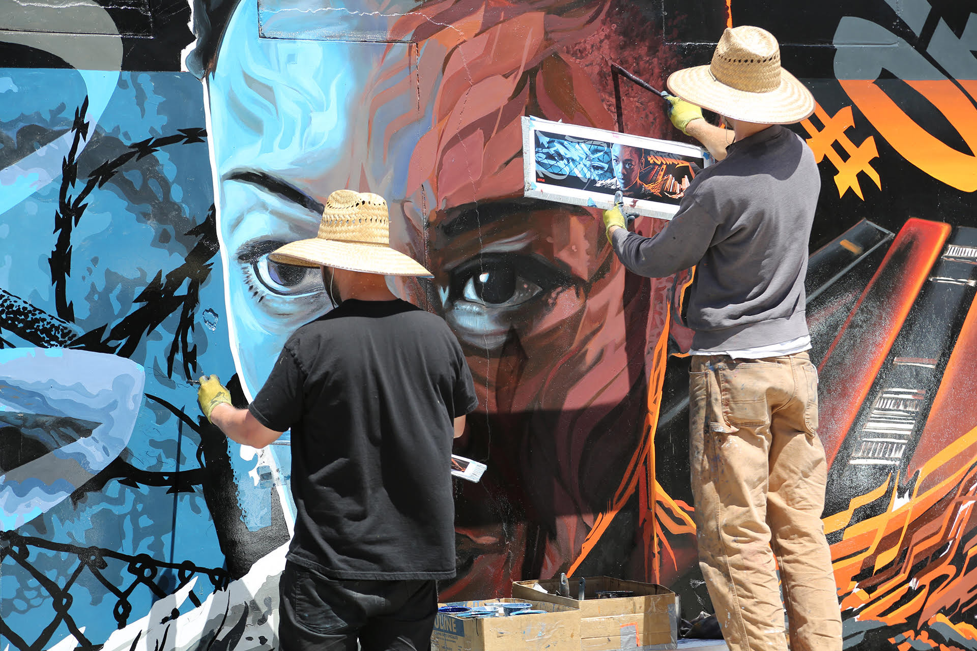 OITNB LA Mural WIP