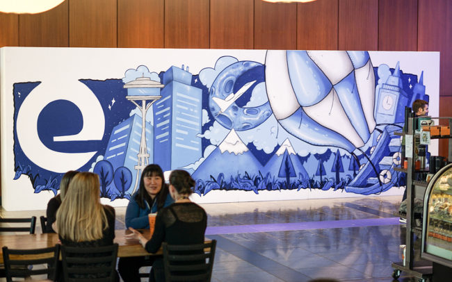 Seattle Mural for Expedia
