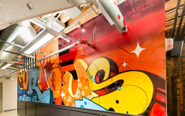 Graffiti Company - Interior Mural Art - Office Mural