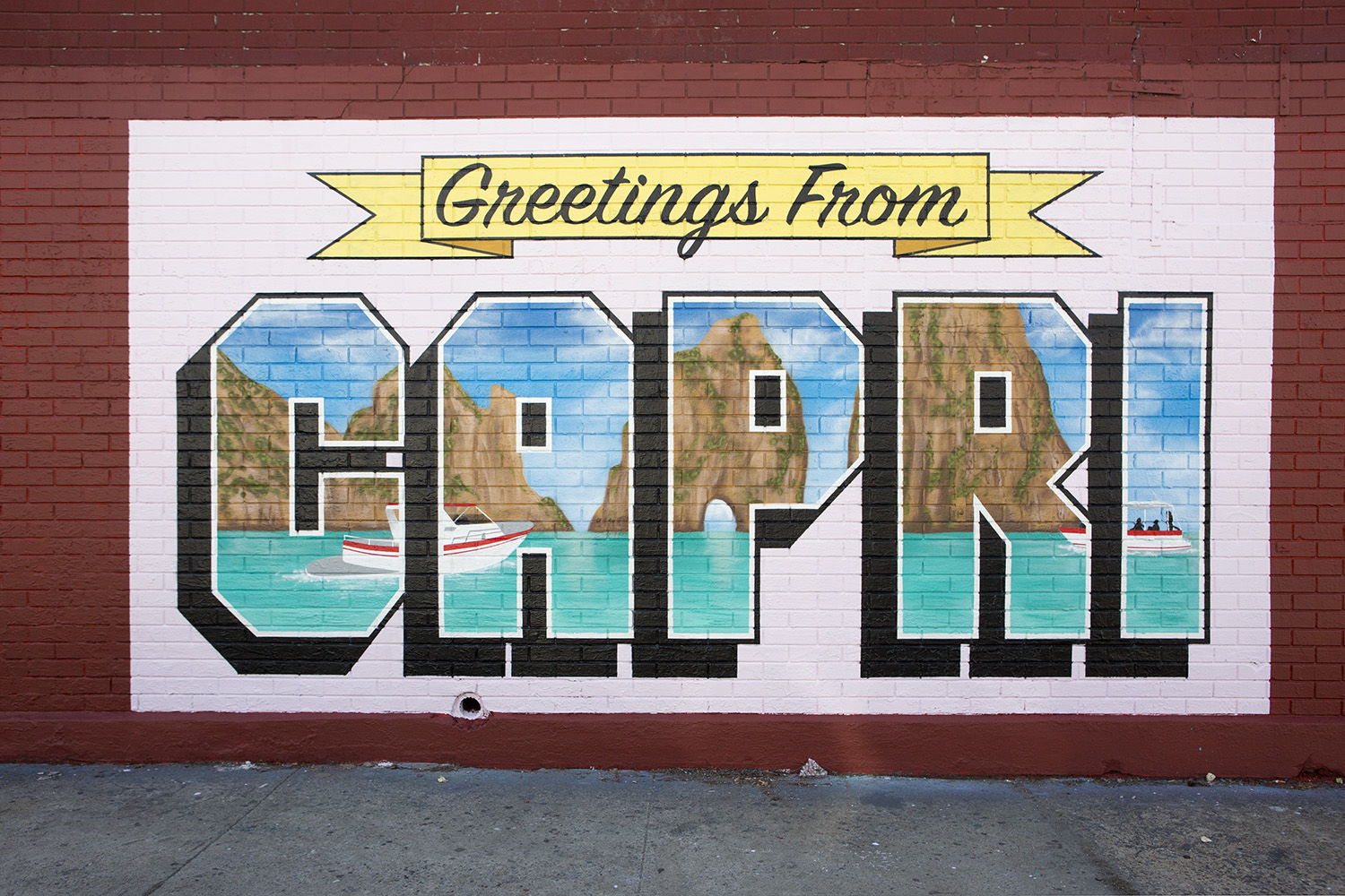 Greetings from Capri Mural