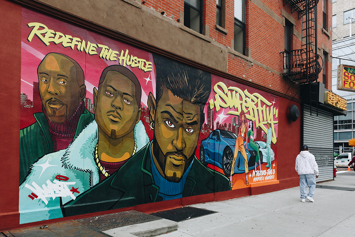 Superfly Mural in NYC