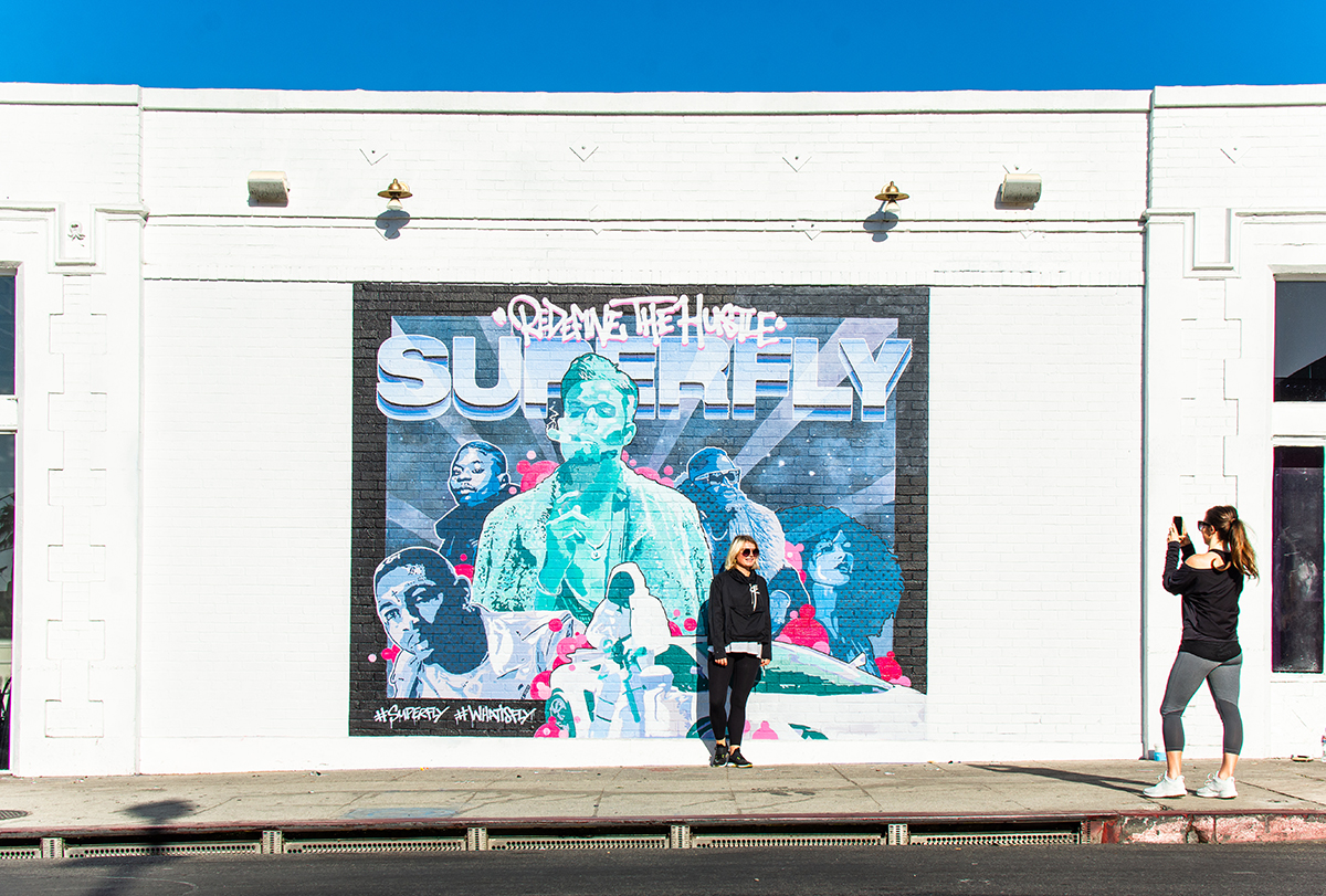 LA Superfly Mural