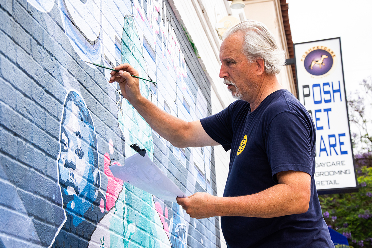 Mural Artist on Melrose