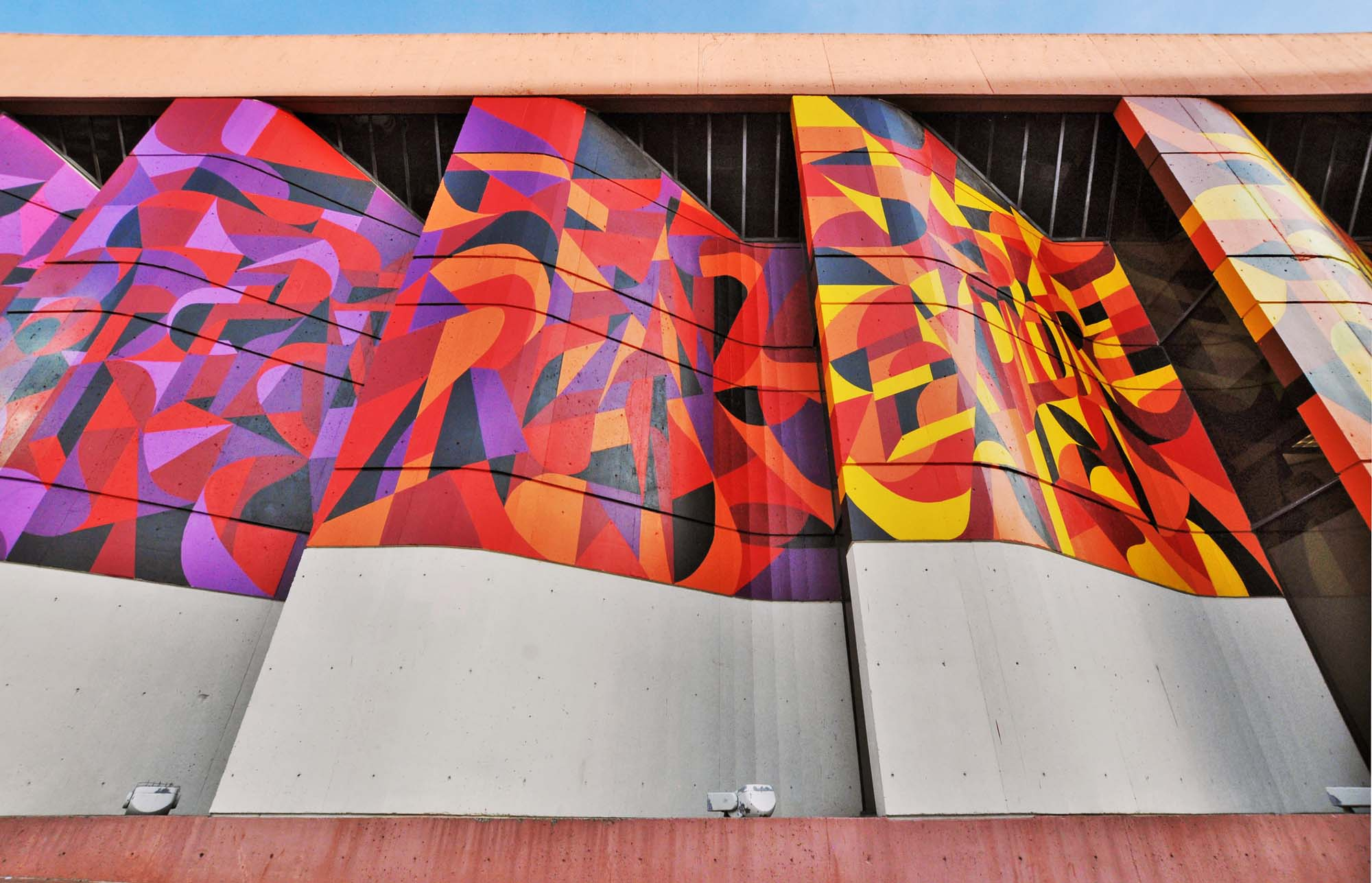 Colorful Mural on Public Library